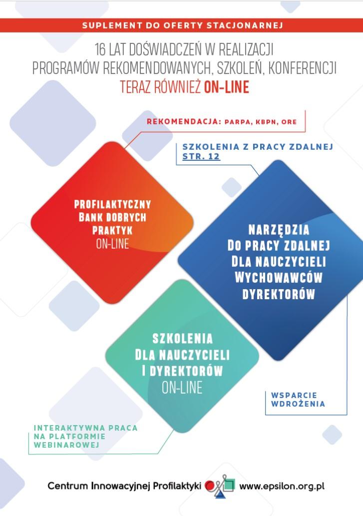 Realizacja programów profilaktycznych on-line