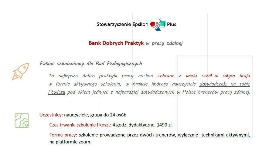 Bank Dobrych Praktyk wpracy zdalnej